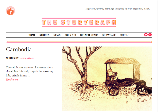 The home page of The StoryGraph magazine's website, http://thestorygraph.com/